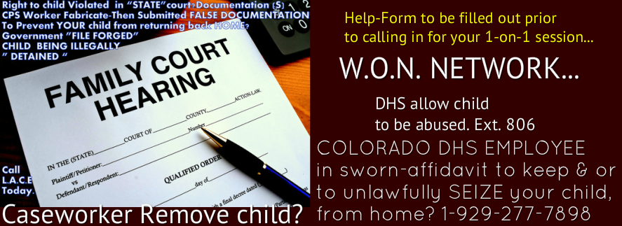 DHS COLORADO LAWSUIT for damages,associated with the